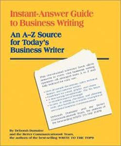 Instant Answer Guide to Business Writing